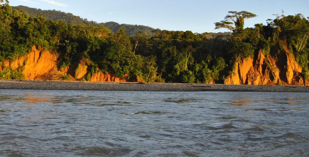 Manu biosphere, beautiful sunset